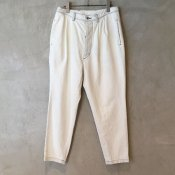 【30%OFF】ikkuna/suzuki takayuki denim tapered pants(イクナ/スズキタカユキ デニムテーパードパンツ)White