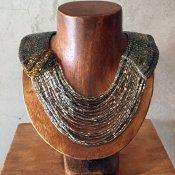 1950's Glass Beads Collar(1950年代 ガラスビーズ つけ襟)Silver