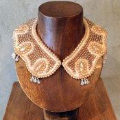 1950's Pearl Beads Collar w/Fringe(1950年代 パールビーズ つけ襟 フリンジ付)