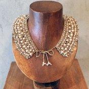 1950's Croche Lace Pearl Collar(1950年代 クロッシェレース パール つけ襟)