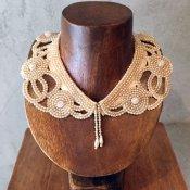 1950's Pearl Beads Collar Cutwork(1950年代 パールビーズ つけ襟 カットワーク)
