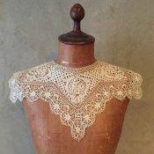 Victorian Needle lace Antique Collar(ヴィクトリアン ニードルレース アンティークつけ襟)