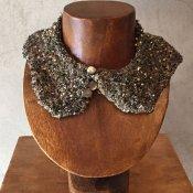 1930'〜40s Glass Beads Collar w/Buttons(1930〜40年代 ガラスビーズ つけ襟 ボタン付)