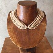 1950's Pearl×Glass Beads Collar(1950年代 パール×ガラスビーズ つけ襟)