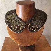1940's Metal Parts×Pearl×Glass Beads Collar(1940年代 メタルパーツ×パール×ガラスビーズ つけ襟)