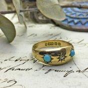 Victorian Diamond Turqoise Antique Ring(ヴィクトリアン ダイヤモンド ターコイズ  アンティーク リング)