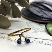 1940's 9K Sapphire Antique Ring (1940年代 9K サファイア アンティークリング)
