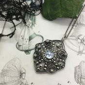 1920's Silver×Marcasite×Topaz Necklace(1920年代 シルバー×マーカサイト×トパーズ ネックレス)