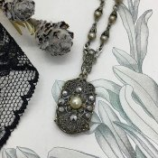 1930's Silver Marcasite Antique Necklace(1930年代 シルバー マーカサイト アンティーク ネックレス)