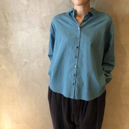 【20%OFF】ikkuna/suzuki takayuki shirt(イクナ/スズキタカユキ シャツ)Turquoise Blue