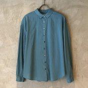 【20%OFF】ikkuna/suzuki takayuki shirt (イクナ/スズキタカユキ シャツ) Turquoise Blue