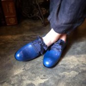 SONOMITSU Lace Up Ribbon Shoes(ソノミツ レースアップリボンシューズ)Blue