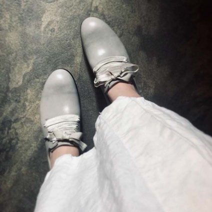 SONOMITSU Lace Up Ribbon Shoes(ソノミツ レースアップリボンシューズ)Gray