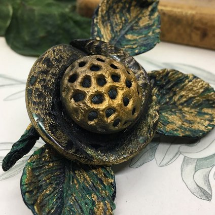 60's Irena Flower Brooch (60年代 イリーナ 花ブローチ)