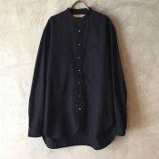suzuki takayuki peasant shirt (スズキタカユキ ペザント シャツ) Black/Men's