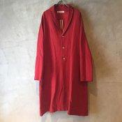 suzuki takayuki tailored collar coat � (スズキタカユキ テーラードカラーコート �)Red/Unisex