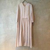 suzuki takayuki gatherd dress (スズキタカユキ ギャザードレス) Ice gray