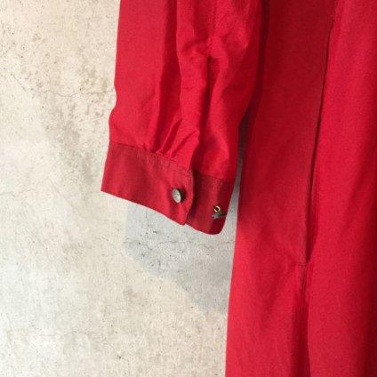 suzuki takayuki gatherd dress (スズキタカユキ ギャザードレス) Red