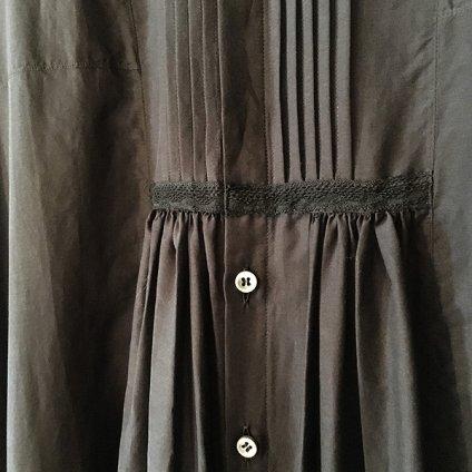 suzuki takayuki gatherd dress (スズキタカユキ ギャザードレス) Black