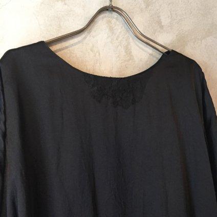 suzuki takayuki pull-over dress (スズキタカユキ プルオーバードレス)Black