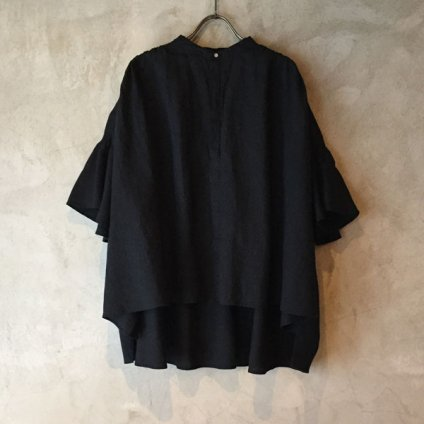 suzuki takayuki flared-sleeve blouse (スズキタカユキ フレアードスリーブブラウス ) Black