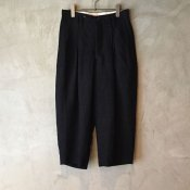 suzuki takayuki wide legged pants  (スズキタカユキ ワイドレッグパンツ) Black/Unisex
