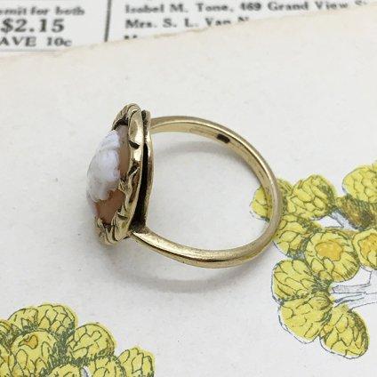 1920's 9K/Shell Cameo Antique Ring(1920年代 9K/シェルカメオ アンティークリング)
