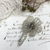 1920's Frosted Glass Brooch(1920年代 フロストガラス ブローチ)