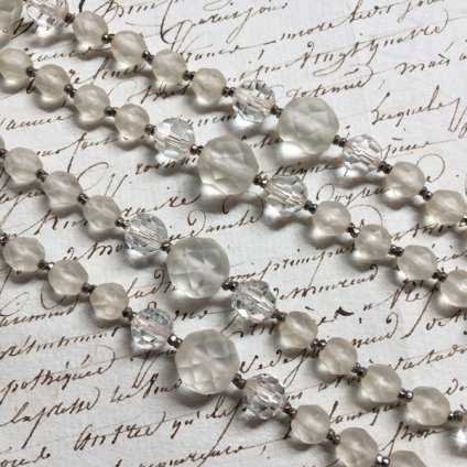 1950's Frosted Glass Necklace(1950年代 フロストガラス ネックレス)
