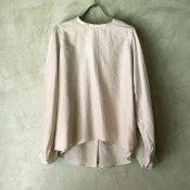 suzuki takayuki bouffant-sleeve blouse (スズキタカユキ ブッファンスリーブブラウス ) Ice gray