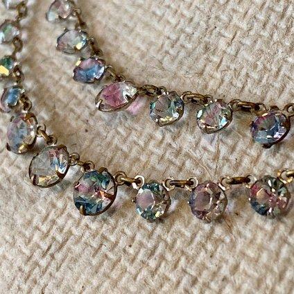 1930's Iris Glass Necklace(1930年代 アイリスガラス ネックレス)