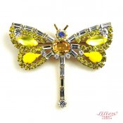 LILIEN(リリアン)Dragonfly Brooch_Yellow