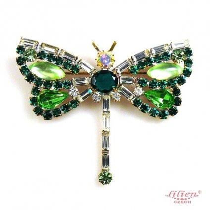 LILIEN(リリアン)Dragonfly Brooch_Green
