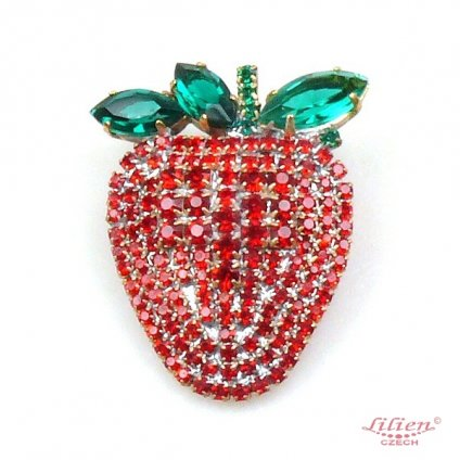 LILIEN(リリアン)Strawberry Brooch_Red