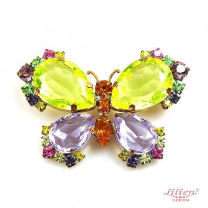 LILIEN(リリアン)Butterfly Brooch_Yellow