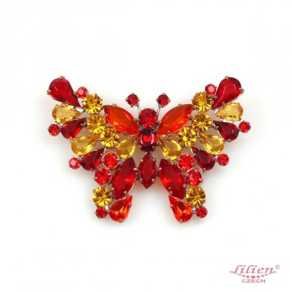 LILIEN(リリアン)Butterfly Brooch_Red