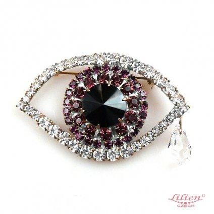LILIEN(リリアン)Eye Brooch Purple