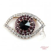 LILIEN(リリアン)Eye Brooch Purple