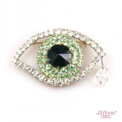 LILIEN(リリアン)Eye Brooch Green