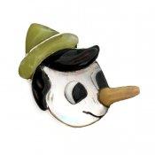 Paula Leekity Brooch Pendant top Pinocchio  (ポーラ リーキティ ブローチ・ペンダントトップ ピノキオ 顔)