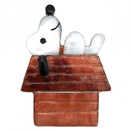 Paula Leekity Brooch Pendant top Snoopy on Rooftop  (ポーラ リーキティ ブローチ・ペンダントトップ 屋根の上のスヌーピー)