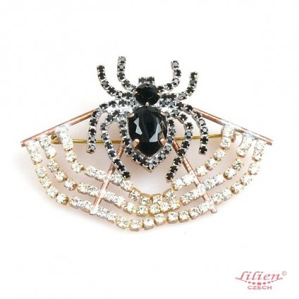 LILIEN(リリアン)Spider on Web Brooch