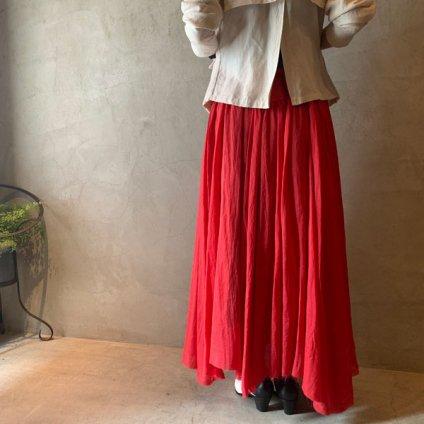 suzuki takayuki long skirt  (スズキタカユキ ロングスカート) Red