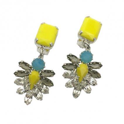 LILIEN(リリアン)Yellow Blue Swing Earring