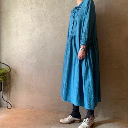 ikkuna/suzuki takayuki shirt dress(イクナ/スズキタカユキ シャツドレス)Turquoise Blue