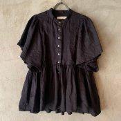 ikkuna/suzuki takayuki ruffled blouse (イクナ/スズキタカユキ ラッフルド ブラウス) Charcoal Gray