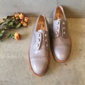 SONOMITSU(ソノミツ)Buttoned Shoes Light Gray