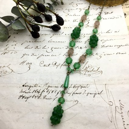 1920's Glass Necklace (1920年代 ガラス ネックレス)