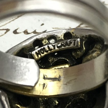 1950's Holly Craft Glass Ring (1950's ホーリークラフトガラスリング)