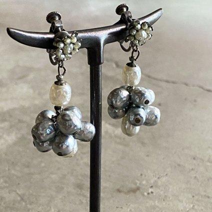 1960's MIRIAM HASKELL Baroque Pearl Earring(1960年代 ミリアムハスケル バロックパールイヤリング)